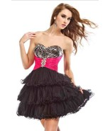 Sexy Strapless Party Time Short Prom Black Dres... - $82.99