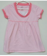 Girls Bailey Point Pink White Stripe Short Slee... - $4.00