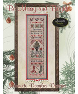 Be Merry & Bright Sampler christmas cross stitc... - $15.30