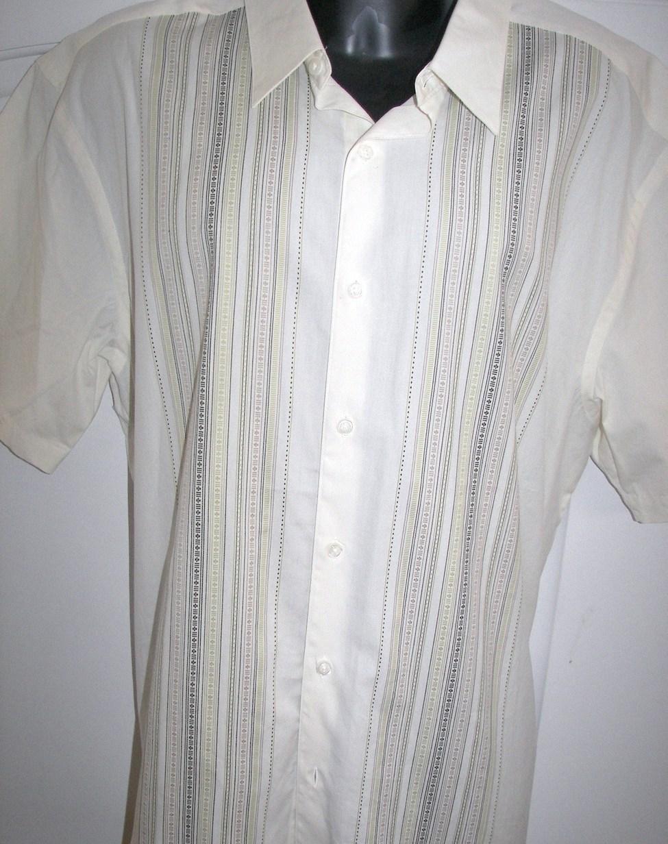 Havanera Guayabera Cubanera Cuban Style Shirt Large
