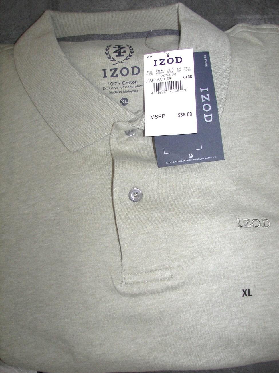 Mens Izod Short Sleeve Golf Polo Shirt X Large New