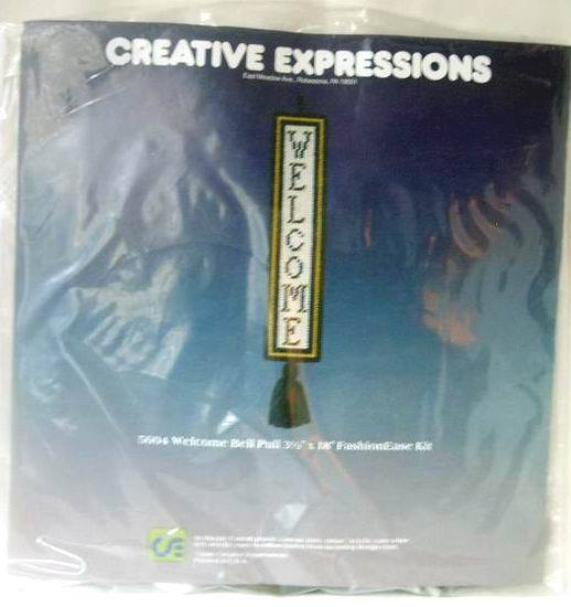 Creative Expressions Welcome Bell Pull Kit New Vintage 1981
