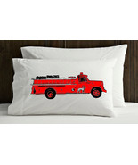 Two (2) vintage red Fire engine truck NEW pillo... - $19.99
