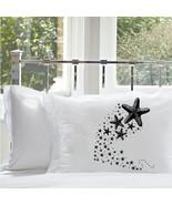 Shooting STARFISH sea stars pillow case deep se... - $11.99