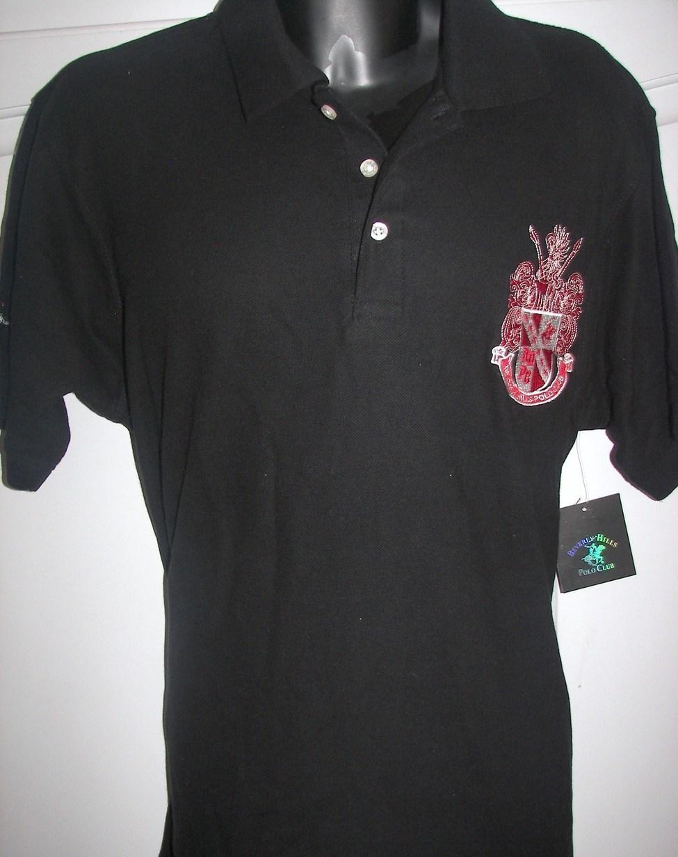 Mens Beverly Hills Polo Club Golf Shirt Sz Medium