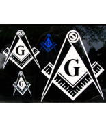 Your Choice of Size and Color Masonic Square & ... - $5.50