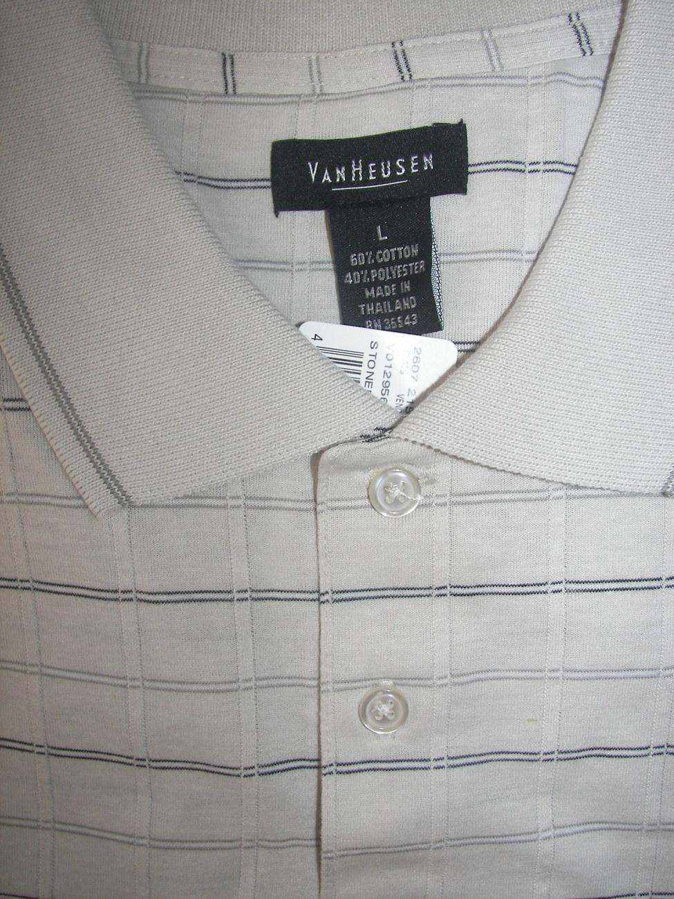 Van Heusen Mens Golf Polo Shirt NEW Stoney Silver
