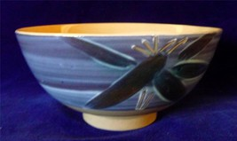 Asian Pottery Footed Bowl/Dish W/Swirled Design... - $29.69