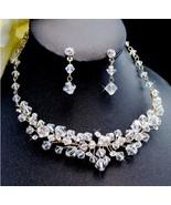 NEW! Elegant Swarovski Crystal Gold Bridal Jewe... - $68.49