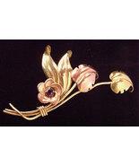Vintage Harry Iskin Gold filled Floral Spray Am... - $34.00