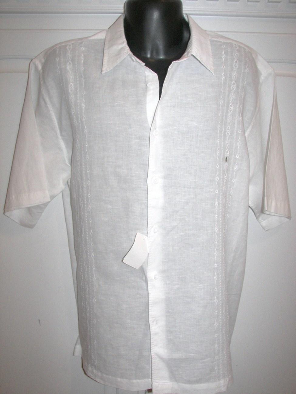 Men Havanera Guayabera Cuban Style Shirt Bahamas wedding shi