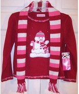 NWT Just Friends Girl's Red Snowman Holiday Chr... - $19.99