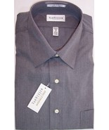 NWT Van Heusen Mens Charcoal Gray End on End Wr... - $15.99