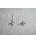 Magic Genie Lamp Wishes Pair of Earrings Jewelr... - $4.95