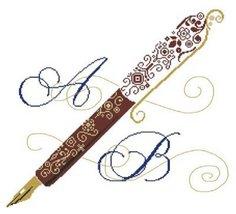 Writing cross stitch chart Alessandra Adelaide ... - $16.20