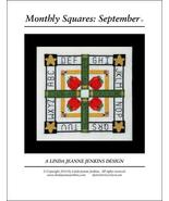 Monthly Squares September cross stitch card cha... - $6.00