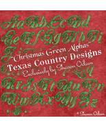 Digital Scrapbooking Christmas Green Alpha Set - $4.00