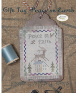 Peace on Earth Gift Tag cross stitch chart Jean... - $5.40