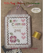 Merry Christmas Gift Tag cross stitch chart Jea... - $5.40