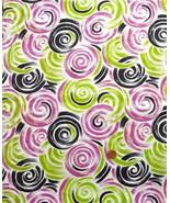 Vtg 30s? COTTON FABRIC~Lrg SWIRLS:Lime Green Re... - $98.99