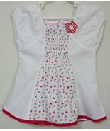 Girls Toddler Sweet Heart White Short Sleeve To... - $4.00