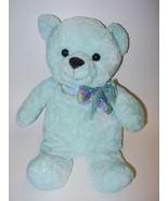 Walmart Blue Teddy Bear Plush Stuffed Animal Fl... - $14.88