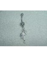 Flamingo Bird Charm Navel Belly Ring Body Jewel... - $4.95