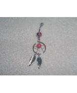 Pink Dreamcatcher Tribal Spirits Navel Belly Ri... - $5.95