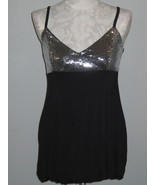 INC Sequin And Black Knit Top Size M NWT - $22.00