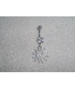 Clear Snowflake Starburst Navel Belly Ring Body... - $6.95