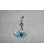 Blue Eye Clear Crystal Navel Belly Ring Body Je... - $6.95