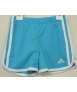Girls Adidas Aqua with White Trim Shorts Size 4 - $4.00
