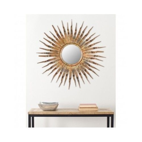Mirror Sunburst Wall Gold Starburst Round Modern Art