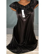 Above Knee Black Nightgown S Cap Sleeves Ruffle... - $9.99