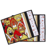 Chicken Hen Placemats pair, handmade quilted co... - $24.00