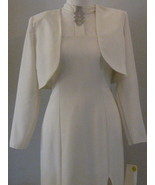 White Gown With Rhinestones And Jacket  Size 11... - $53.00