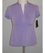 AGB  Violet Stretch Comfy Knit Top Size S NWT - $19.00