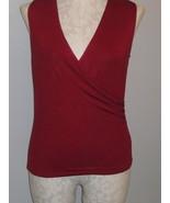 Ralph Lauren Burgundy Knit Womans Top Size L NWT - $21.00