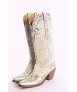 8 Lucchese THE VEGAS Silver Metallic Spotted Ha... - $544.50