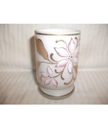 Antique Satin Glass Tumbler with Hand Painted E... - $19.78