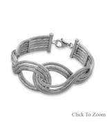Interlocking Design Sterling Silver Bracelet - $229.98