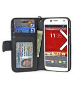 Navor Folio Wallet Leather Case for Motorola Mo... - $15.50