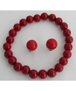 Enticing Red Jewelry Stretchable Bracelet Stud ... - $14.48