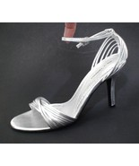Chinese Laundry Silver Strappy Heels Sz 9 M Ank... - $19.30