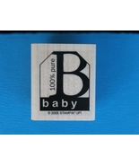 100% Pure Baby Rubber Stamp by Stampin' Up, Gif... - $2.99