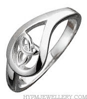 925 Sterling Silver Ladies Trinity Knot Teardrop Celtic Ring