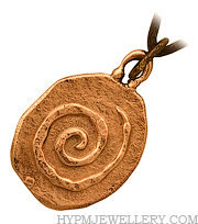 Handcrafted Bronze Rock Spiral Celtic Pendant