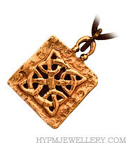 Handcrafted Bronze Celtic Knotwork Pendant