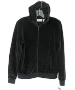 NWT black hoodie Zipper S Cotton blend Sutton S... - $29.99