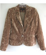 NWT Crushed velvet blazer 8 Honey brown Fawn Pa... - $47.99